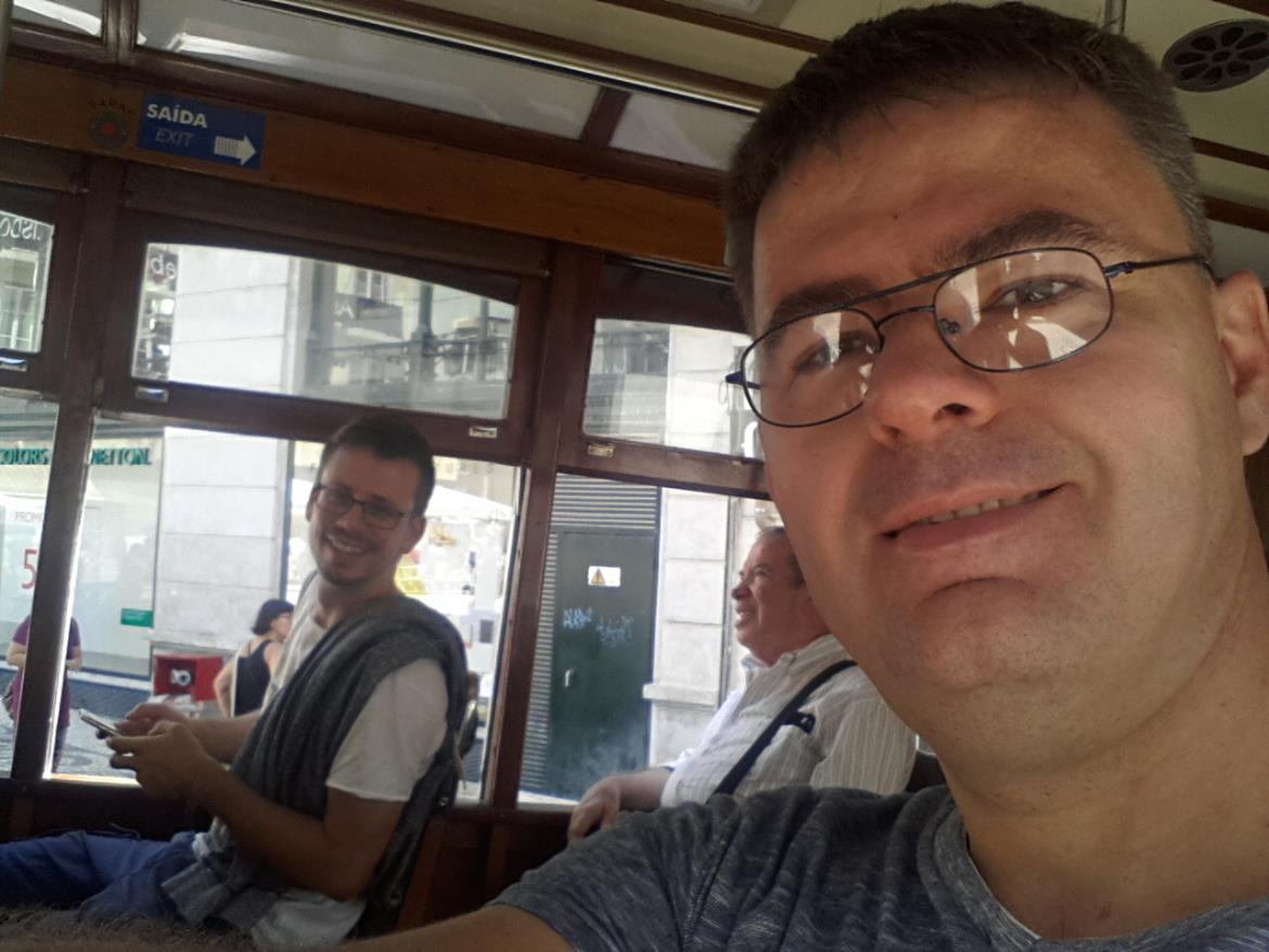 Discovering Lisbon in a tram.