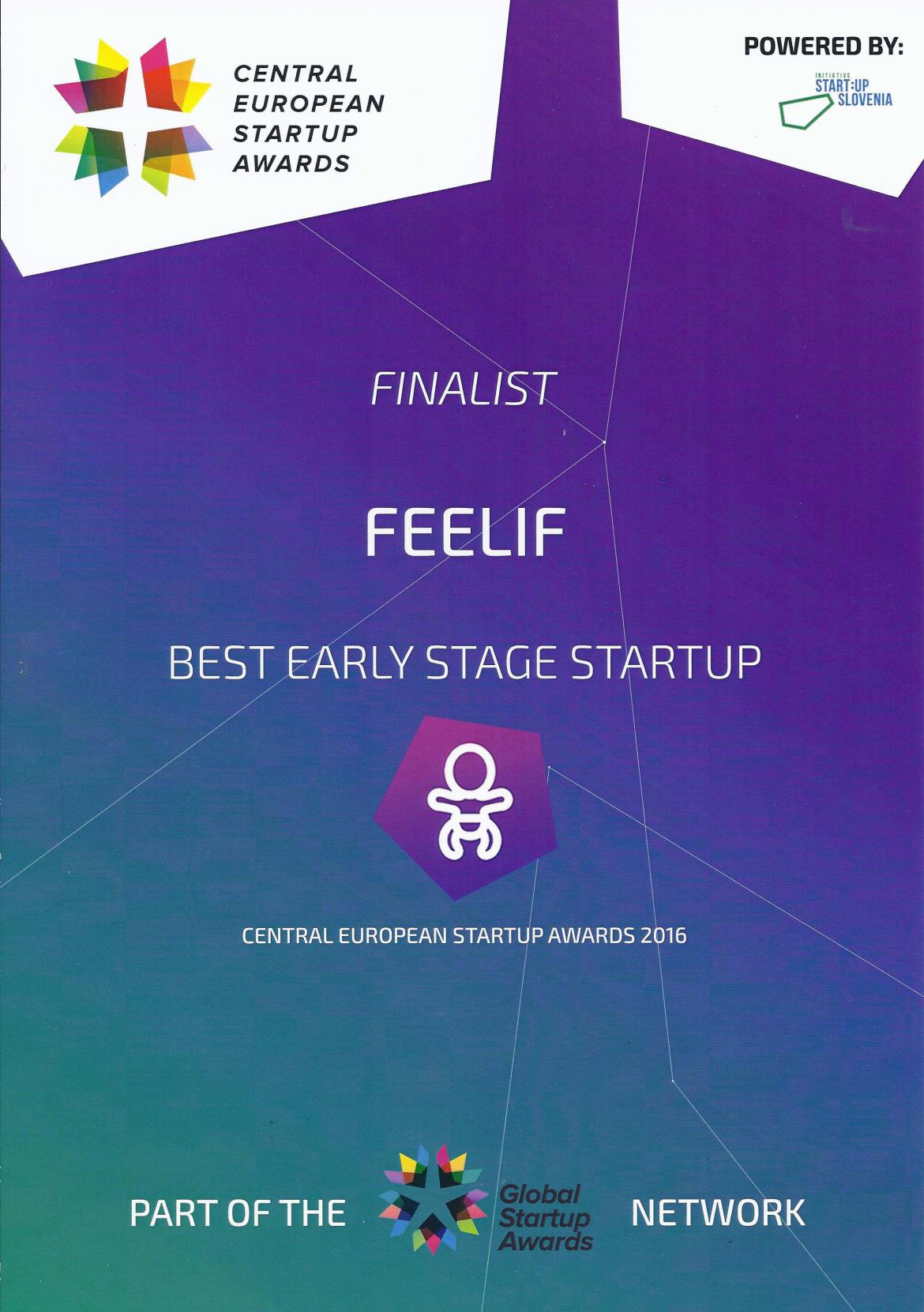 Feelif Best early stage startup DIPLOMA