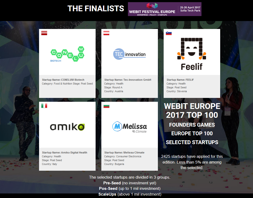Great success on Webit festival Europe 2017 in Bulgaria Sofia
