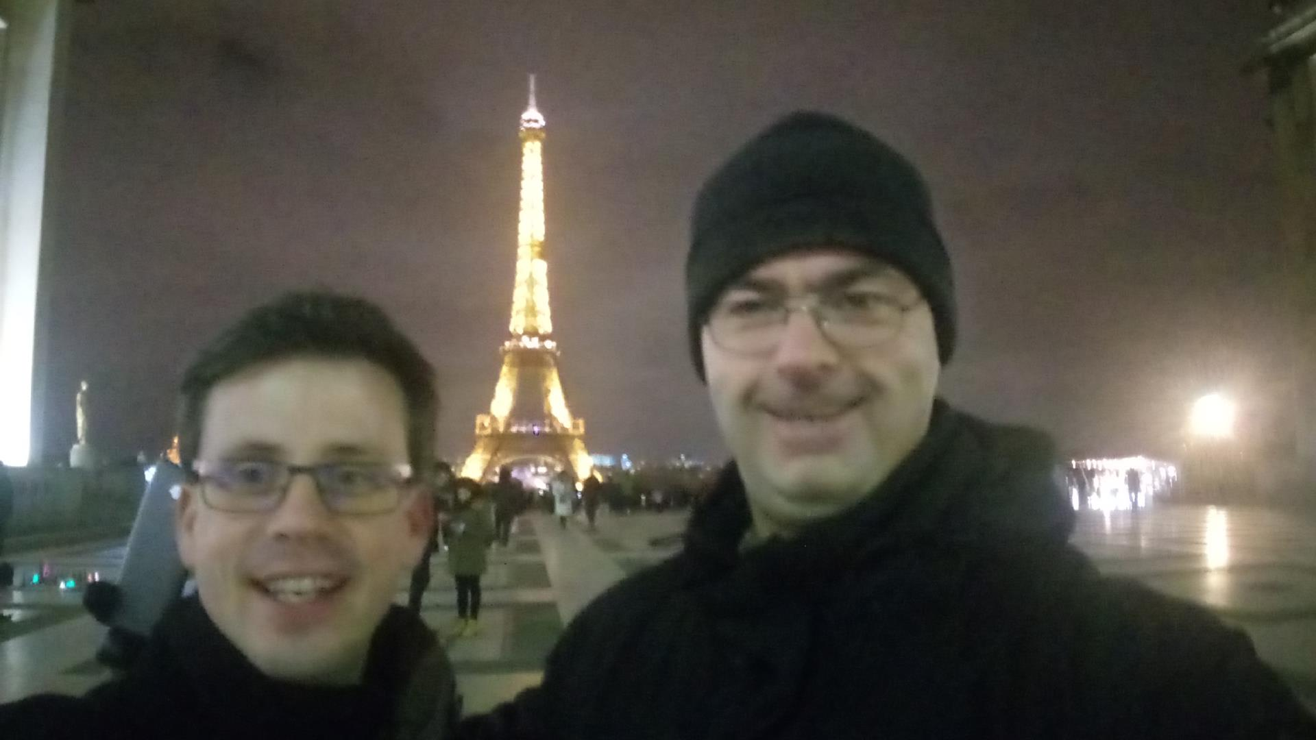 Željko and Boštjan in Paris: Eiffel tower also in the picture