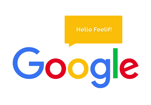 Picture of Google logo saying Hello Feelif!