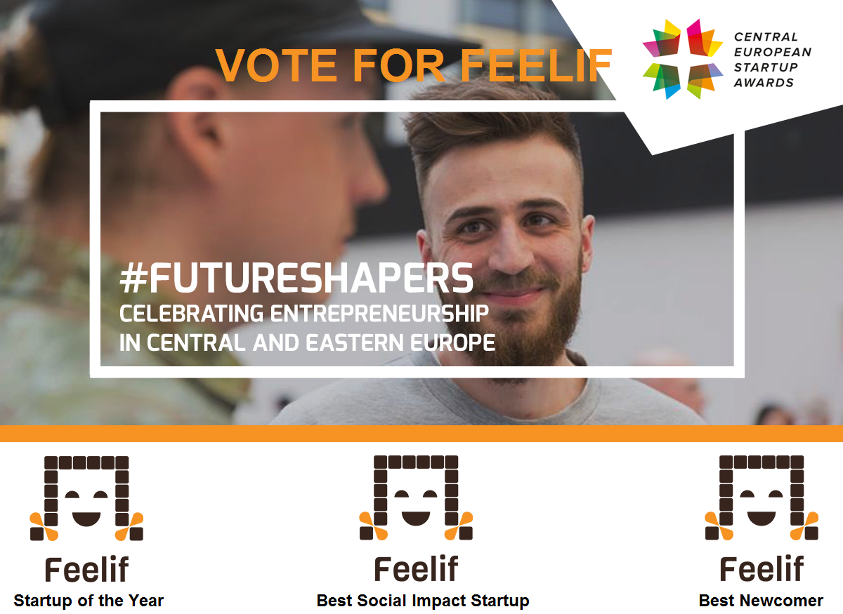 Feelif is a National Finalist in Slovenia at Central European Startup Awards 2018!