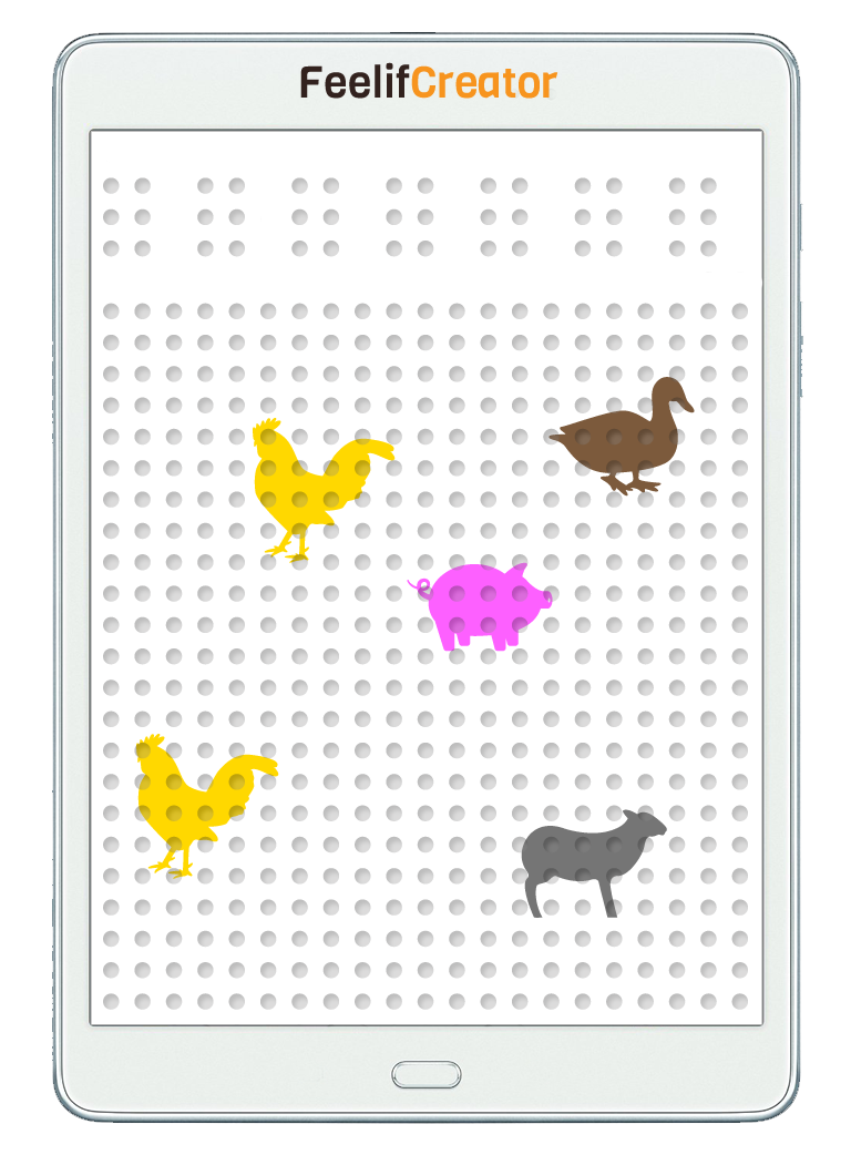Digital Farm game for blind